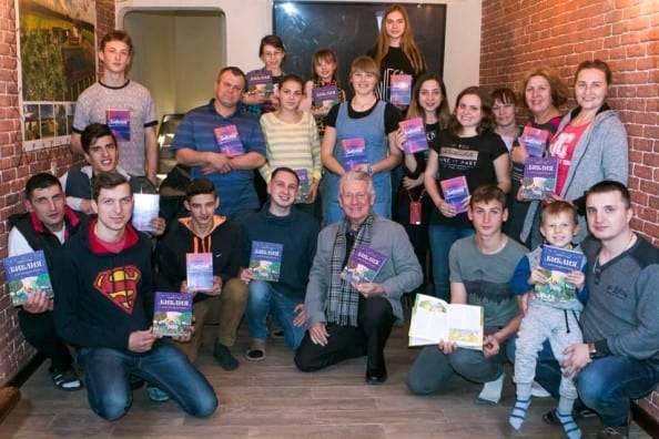 residents of House of Hope with their new bibles